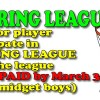2016 SPRING LEAGUE update
