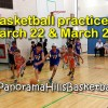 Basketball practices Wednesday March 22 & Friday March 24