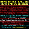 BASKETBALL SCHEDULE MAY 30 – JUNE 16 2017