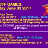 SPRING LEAGUE PLAYOFF games JUNE 03 2017