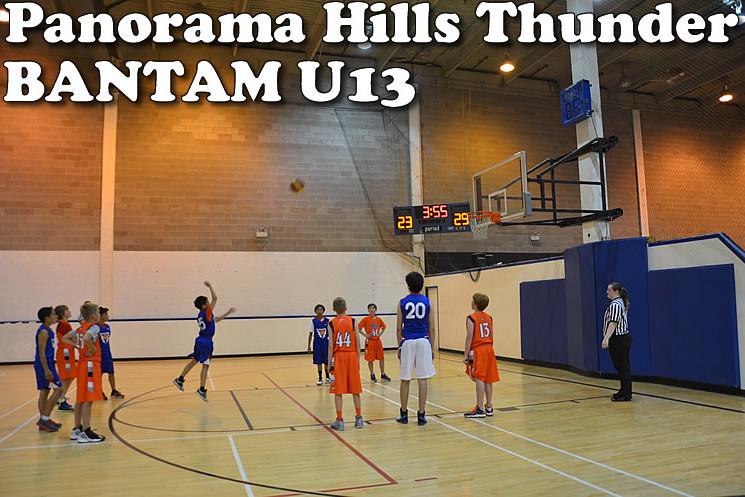 panorama hills thunder, bantam boys U13,