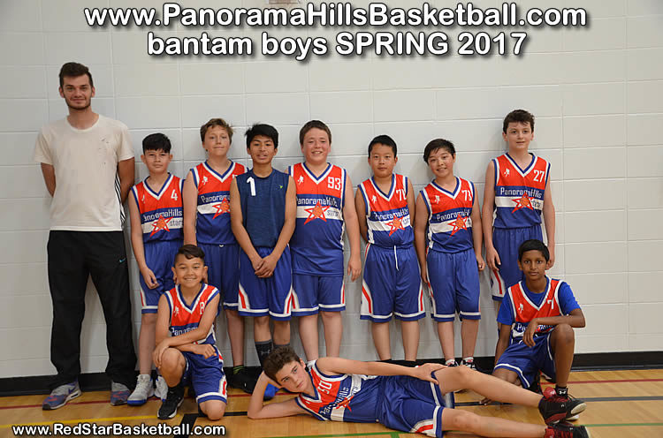red star - panorama hills basketball bantam boys