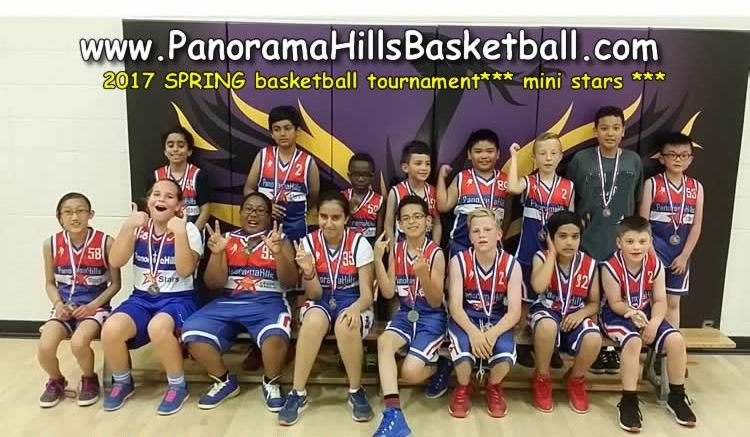 panorama hills spring basketball tournament mini stars