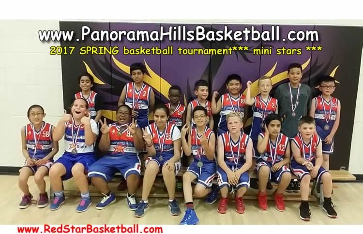 panorama hills spring basketball tournament mini stars